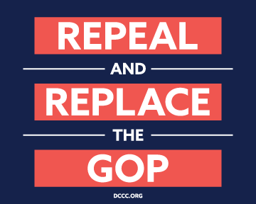 """Free """"Repeal and Replace the GOP"""" sticker!"""