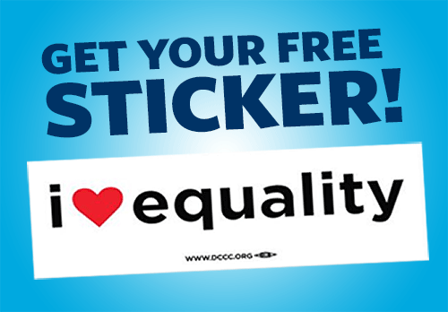 FREE I HEART Equality Bumper S...