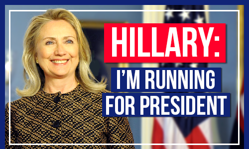 Hillary Clinton: I'm running for president