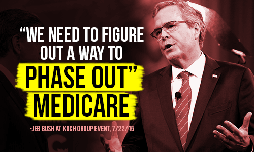 """We need to figure a way to phase out"" Medicare -- Jeb Bush"
